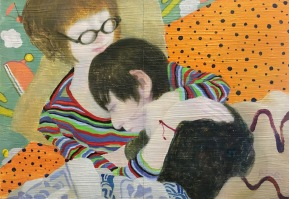 Hug Me One More Last Time2016oil on pannel25.5 x 18.0cm©Rentian Qiu