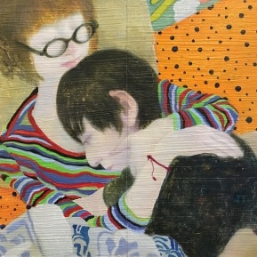 Hug Me One More Last Time   2016   oil on pannel   h.18.0 × w.25.5 cm  ©Rentian Qiu