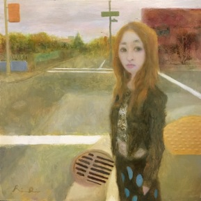 Look Right Through Me No.2   2016   oil on pannel   h.20.0 × w.20.0 cm  ©Rentian Qiu