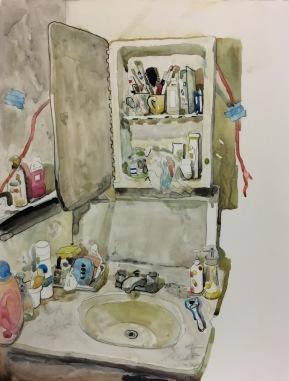 Room No.42016mixed media27.5 x 35.0cm©Rentian Qiu