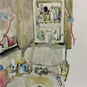 Room No.4   2016   mixed media   h.35.0 × w.27.5 cm  ©Rentian Qiu