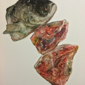 Fish No.3   2016   mixed media   h.24.5 × w.21.0 cm  ©Rentian Qiu