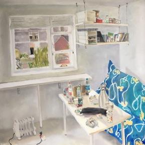 Room No.62016oil on canvash.60.0 × w.60.0 cm©Rentian Qiu